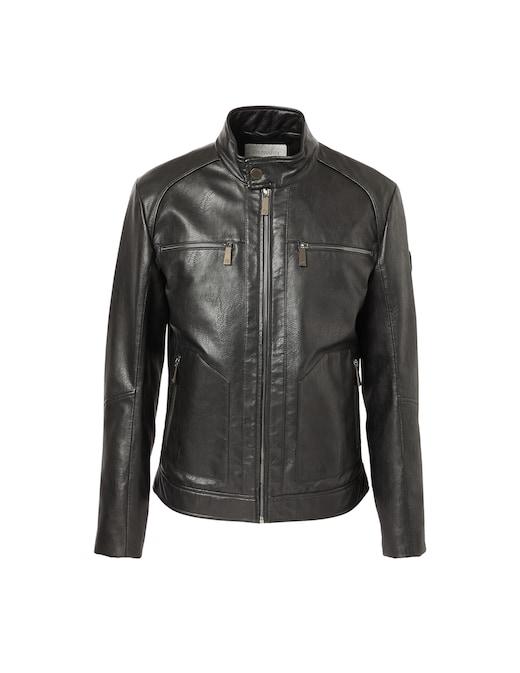rinascente Trussardi Textured fake leather biker jacket