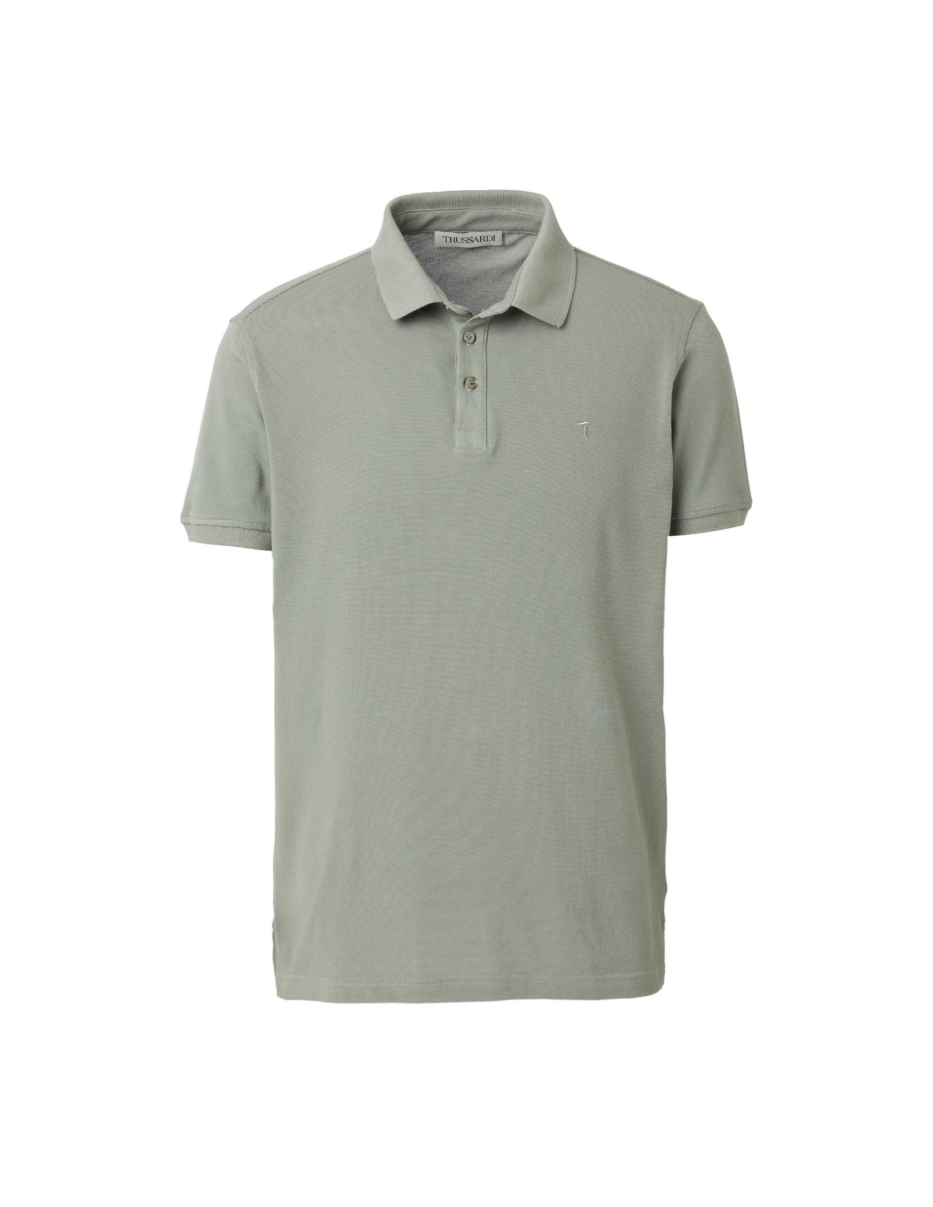 Trussardi Jeans Short Sleeves Polo Shirt Piquet Pure Cotton Regular Fit Uomo