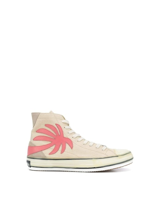 rinascente Palm Angels High top palm vulcanized canvas shoes