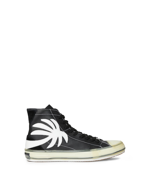 rinascente Palm Angels High top palm vulcanized  leather sneakers