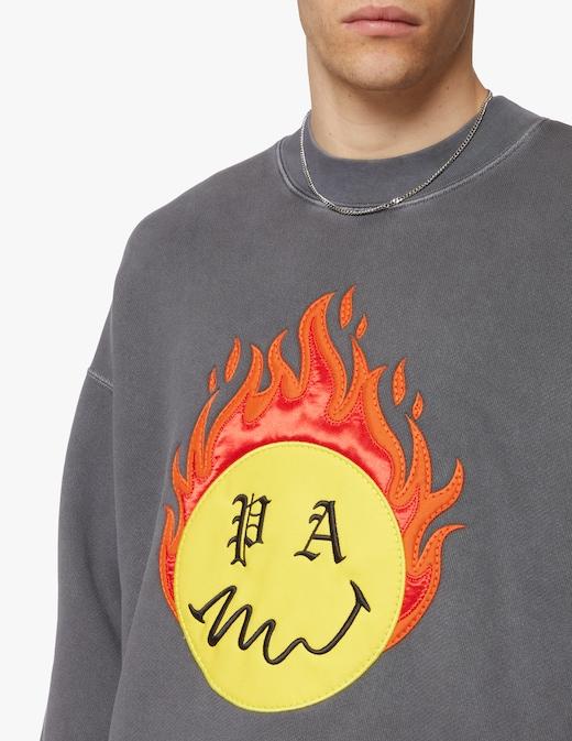rinascente Palm Angels Burning head swearshirt