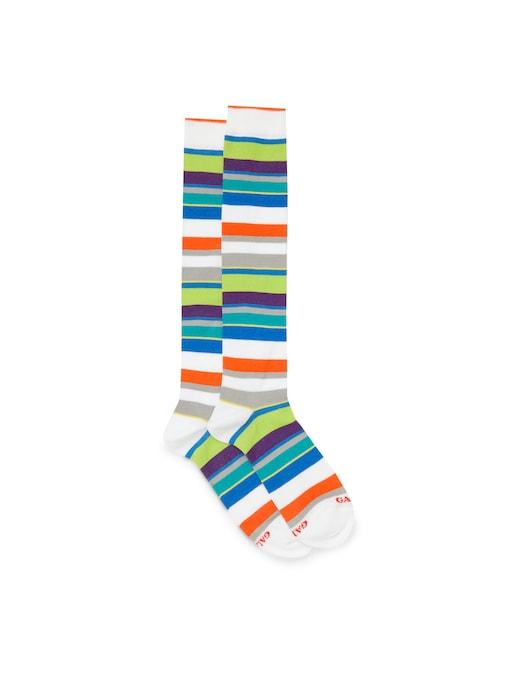 rinascente Gallo Multicolor striped long cotton socks