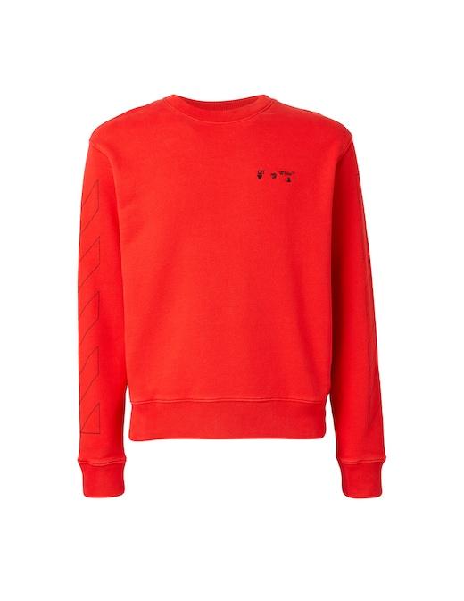 rinascente Off-White Diagonal off white logo slim sweatshirt