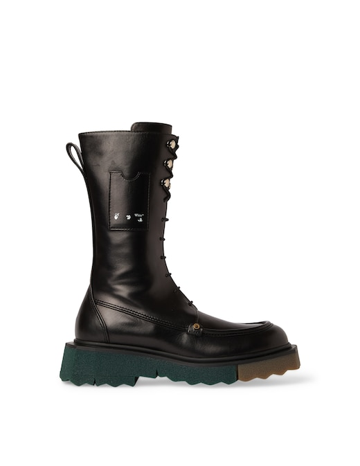 rinascente Off-White Leather combat boots