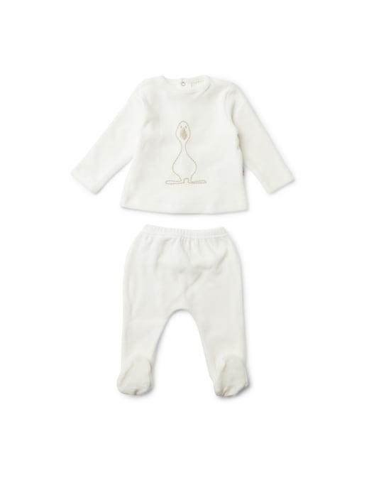 rinascente Filobio Two pieces baby set with embroidery