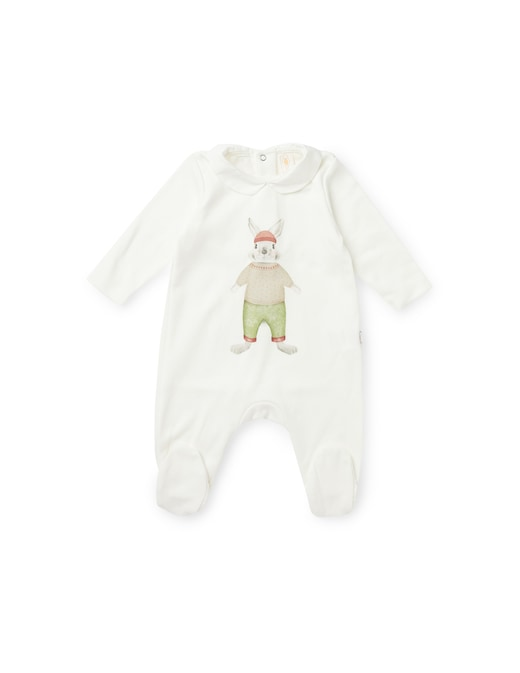 rinascente Filobio Baby onesie with collar and embroidery