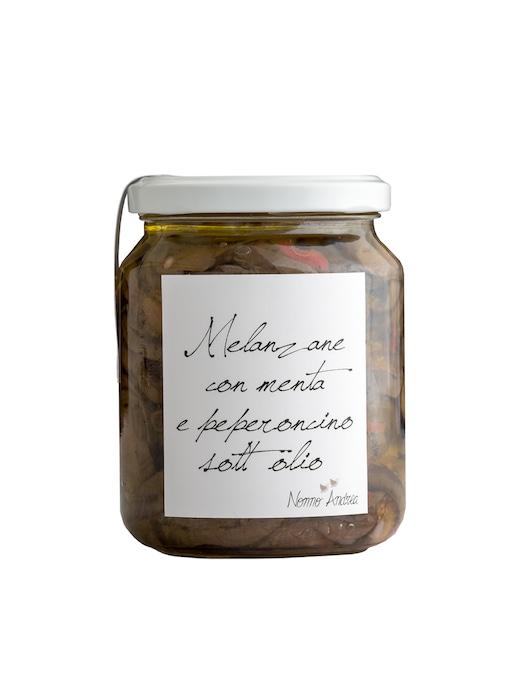 rinascente Nonno Andrea Aubergine with mint and hot chili pepper in oil