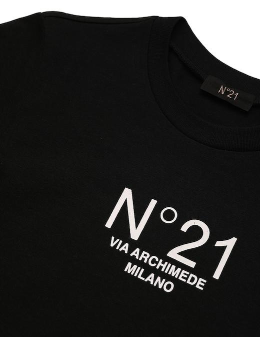 rinascente N°21 T-shirt in cotone con logo