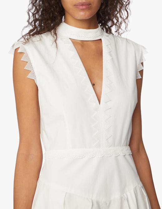 rinascente MSGM Sleeveless lace midi dress