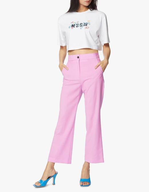 rinascente MSGM Wool flare trousers