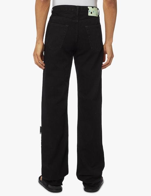 rinascente Off-White Jeans straight logo black