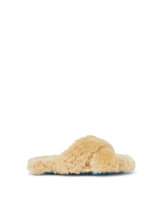 rinascente Off-White Slippers in shearling