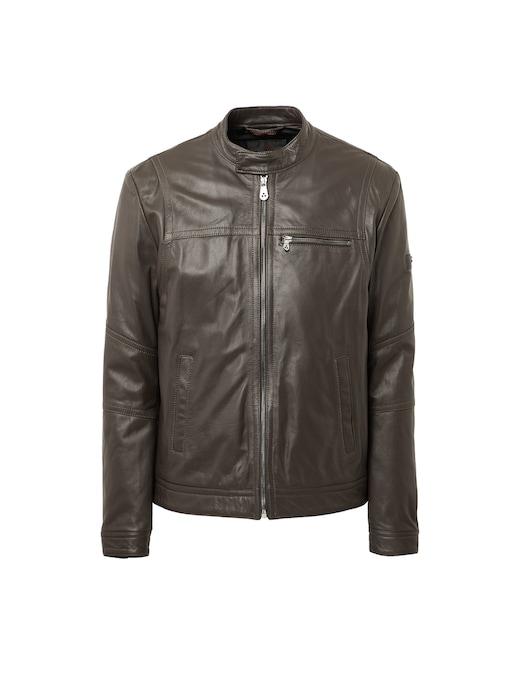 rinascente Peuterey Leather saguaro biker jacket