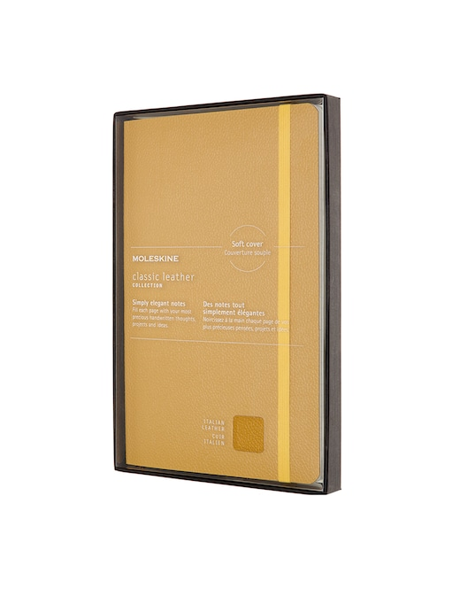 rinascente Moleskine Classic leather notebook Large ruled soft