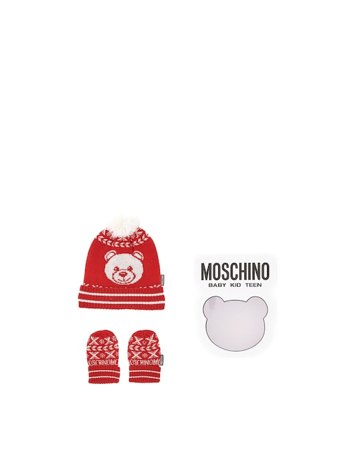 rinascente Moschino Baby set with neck warmer and gloves