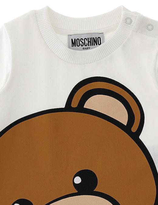 rinascente Moschino Maglietta girocollo manica lunga in cotone