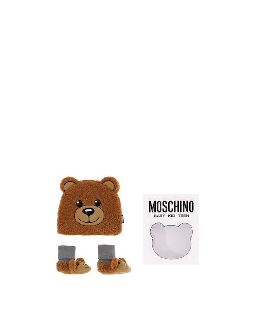 rinascente Moschino Baby set with beanie and baby shoes