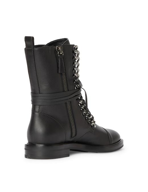 rinascente Casadei City rock leather combat booties