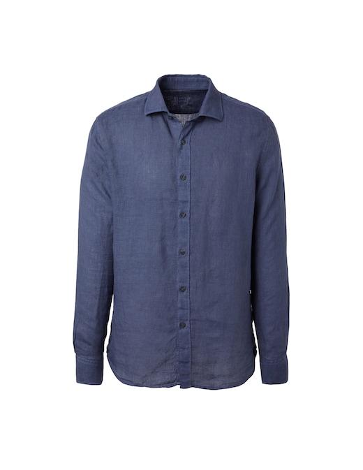 rinascente 120% Lino French collar linen shirt