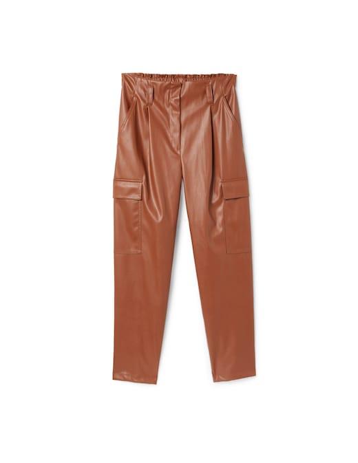 rinascente iBlues Faux leather cargo pants Yomo