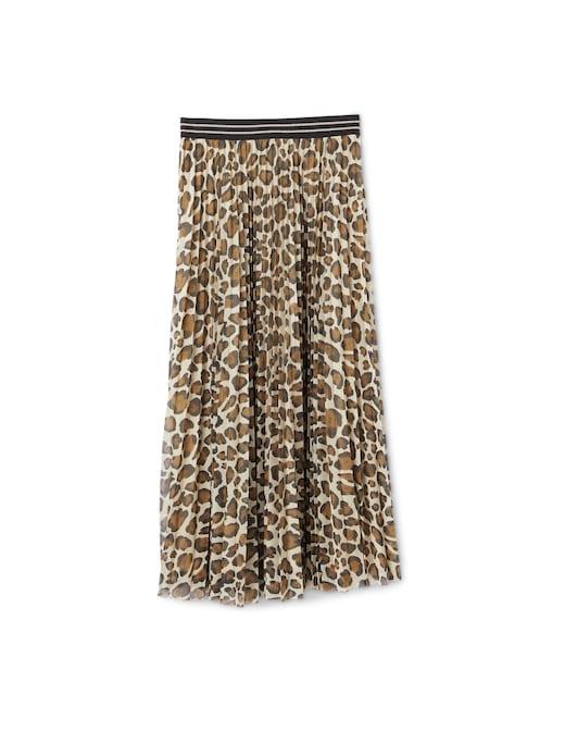 rinascente Marella Pleated maxi skirt with prints Saggina