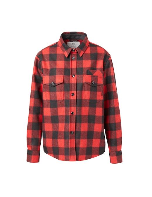 rinascente Woolrich Wool blend patchwork overshirt