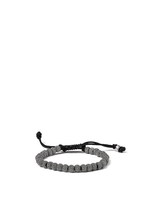 rinascente NOVE25 Bracelet corda elementi tondi puntinati