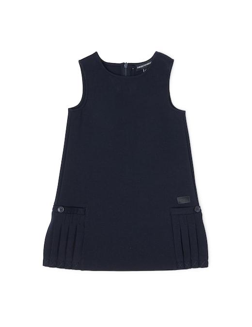 rinascente Emporio Armani Cotton dress with side pleats