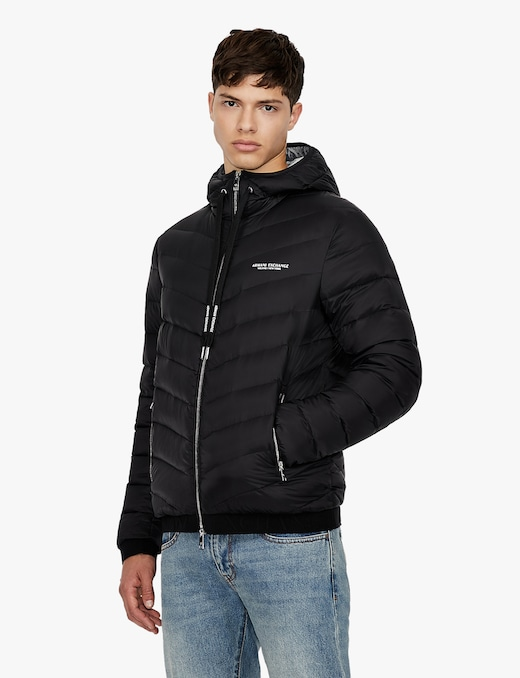 rinascente Armani Exchange Hooded 100g puffer jacket