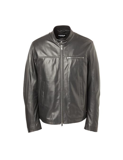 rinascente Dondup Padded leather biker jacket