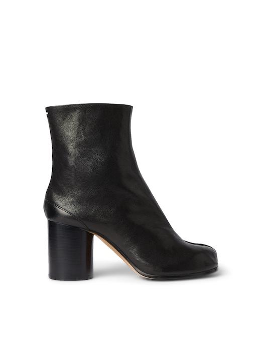 rinascente Maison Margiela Tabi leather heeled ankle booties
