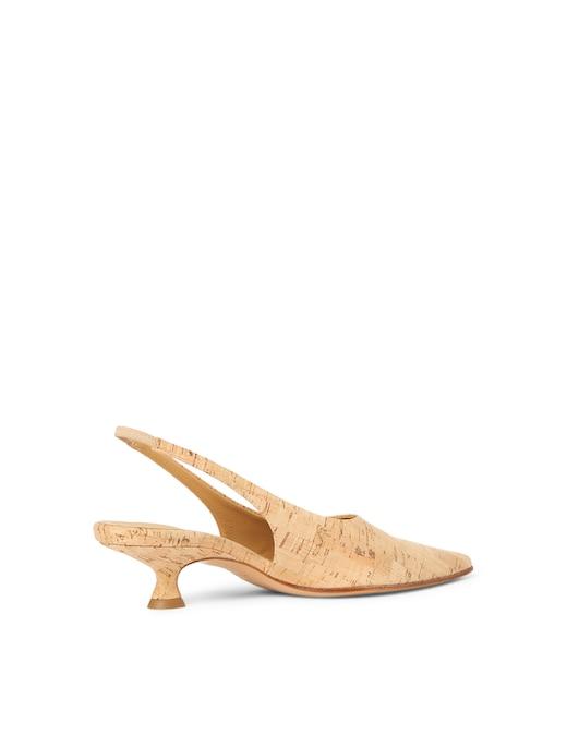 rinascente MM6 Maison Margiela Cork slingback shoes