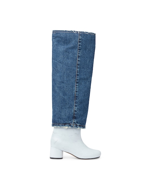 rinascente MM6 Maison Margiela Heeled boots and jeans leg