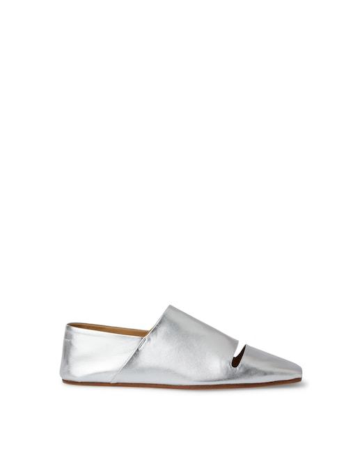 rinascente MM6 Maison Margiela Leather flat shoes