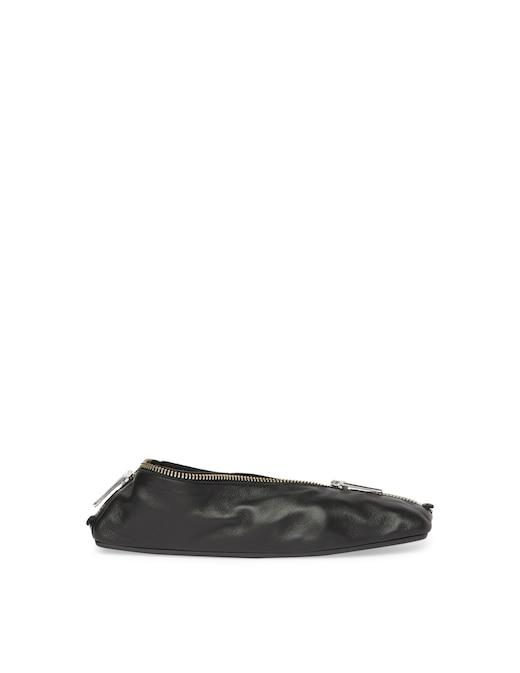 rinascente MM6 Maison Margiela Leather zipped ballet flat