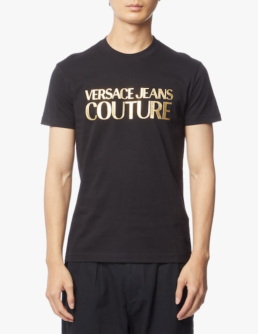 rinascente Versace Jeans Couture T-shirt with gold logo