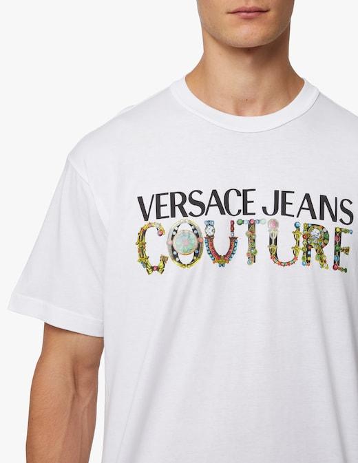 rinascente Versace Jeans Couture Maglietta girocollo bijoux logo