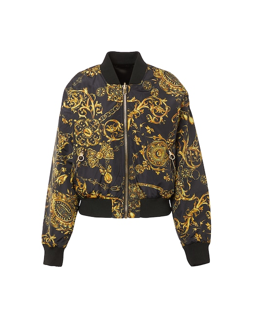 rinascente Versace Jeans Couture Bomber jacket with baroque print
