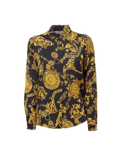 rinascente Versace Jeans Couture Viscose shirt with baroque print