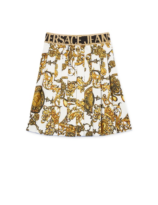 rinascente Versace Jeans Couture Pleated mini skirt with baroque print