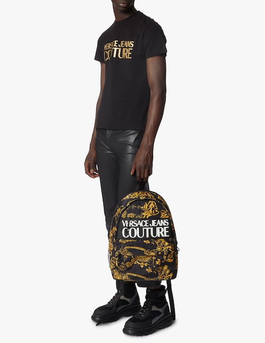 rinascente Versace Jeans Couture Nylon barocco backpack