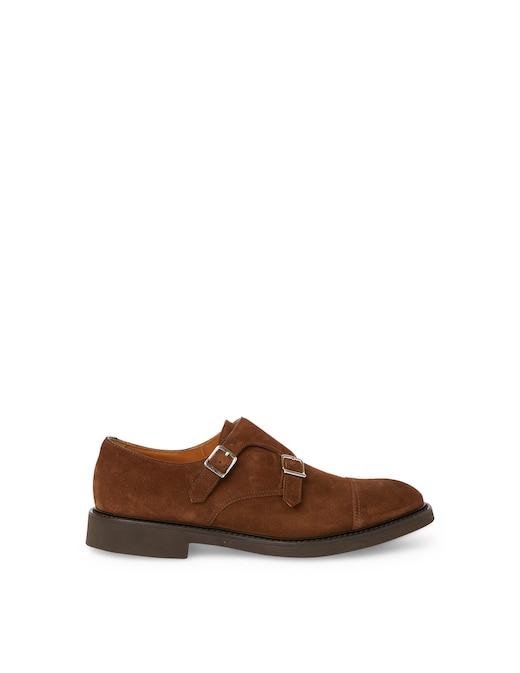 rinascente Doucal's Double monk suede shoes