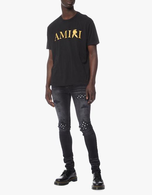 rinascente Amiri Mx1 leather playboy jeans