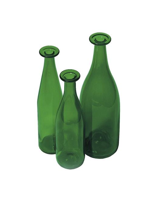 rinascente Cappellini 3 Green Bottles, Vase
