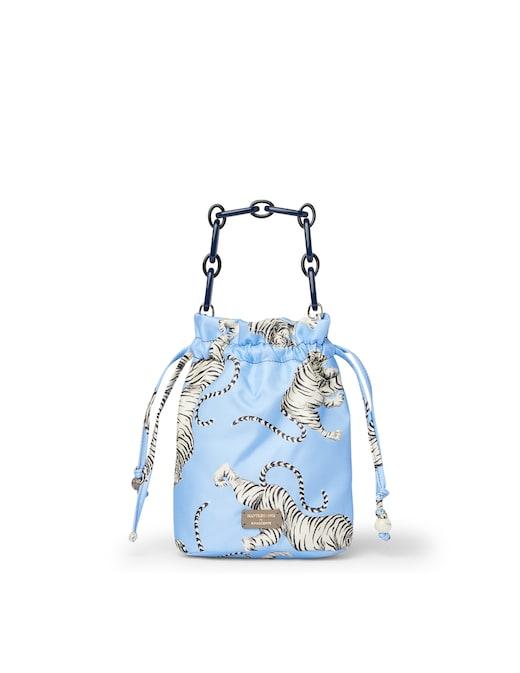 rinascente Mantero 1902 Honey Tiger mini bucket bag