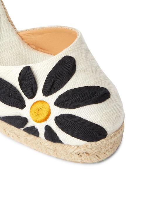 rinascente Castaner Candace floral linen wedges sandals