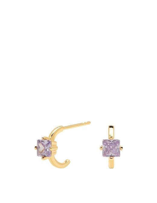 rinascente PD Paola Cavalier Lavander Lis earrings