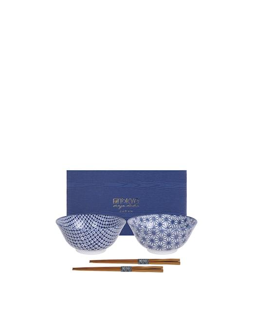 rinascente TOKYO design studio Ciotole Tayo box regalo 2pz 15.2x6.7cm Star & Lines