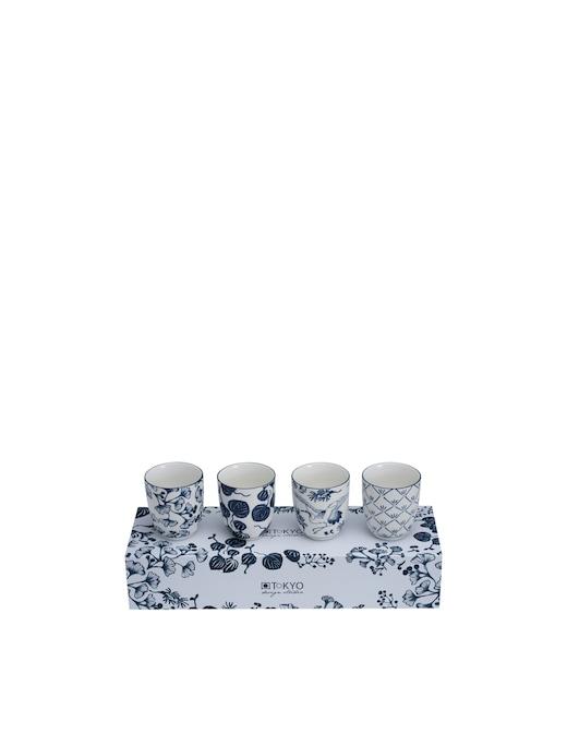 rinascente TOKYO design studio Flora Japonica cup set x 4 pcs 6.7x7.7cm 170ml