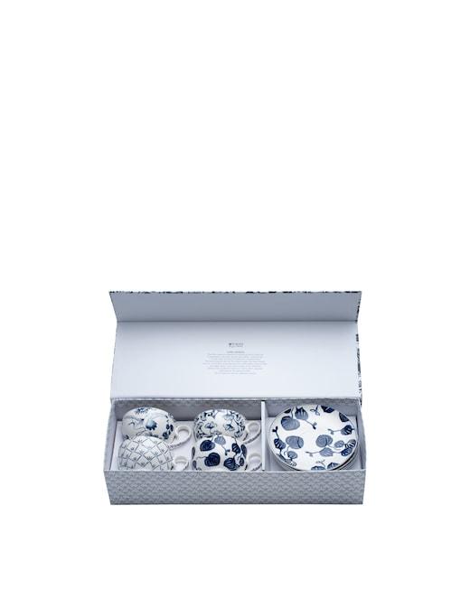 rinascente TOKYO design studio Flora Japonica tazza e piattino set regalo 8pz 250ml